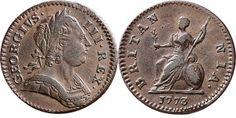George III, Farthing, 1773.