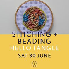 Stitching and Beading with Hello Tangle