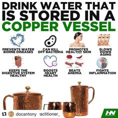 DRINKING FROM COPPER VESSELS For more fitness information follow  @get_fit_with_skp #health #fitness #fit #TFLers #fitnessmodel #fitnessaddict #fitspo #workout #bodybuilding #cardio #gym #train #training #photooftheday #health #healthy #instahealth #healthychoices #active #strong #motivation #instagood #detersmination #lifestyle #diet #getfit #cleaneating #eatclean #exercise You probably haven't heard of this before but drinking from copper vessels can really provide you with a number of…