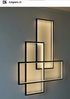 DIY Ambience: Picture frames lined with LED light strips. Easy and chic!