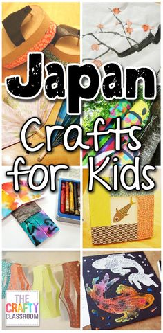 Lots of free Japan crafts and activity ideas! Think: lapbooks, crafts and activities, unit study or thematic lessons, windsocks, woodblock prints, fans, sumi-e paintings, origami, paper lanterns and more! https://thecraftyclassroom.com/crafts/japan-crafts-for-kids/?utm_campaign=coschedule&utm_source=pinterest&utm_medium=Preschool%20Kindergarten%20Mom&utm_content=Japan%20Crafts%20for%20Kids