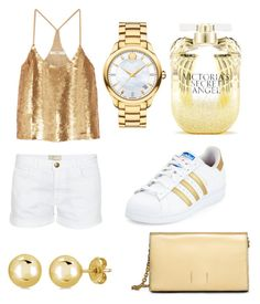 """gold"" by soph-133 ❤ liked on Polyvore featuring Victoria's Secret, Movado, adidas, TIBI, Current/Elliott, BERRICLE and Calvin Klein"
