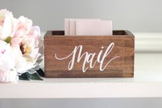 ✦ Thank you for shopping our store! Please read the entire description below before ordering to ensure you dont miss our lead time, dimensions, etc. By purchasing, you are agreeing that you read all of the listing description and our policies. ✦ Our rustic wooden mail holder is