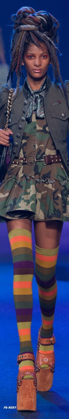 Marc Jacobs - Spring 2017 RTW with fab thigh high socks!