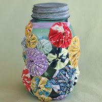 Yo-Yo Crafts | Fancy Tiger Crafts: Craftastic Weekend Project: Yo-Yo Mason Jar Cozy