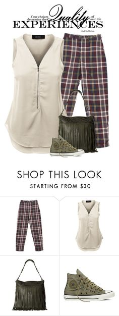 """""""Casual"""" by nightowl59 ❤ liked on Polyvore featuring LE3NO, Ash, Converse and casualoutfit"""