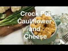 Crock Pot Cauliflower and Cheese is so cheesy and delicious, plus it is a cinch to make. Great hands free side dish.