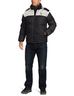 U.S. Polo Assn. Men's Color Block Bubble Jacket
