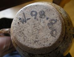 Rorke's Drift Pottery vase, South Africa - often has a leaf mark. W mark numbers
