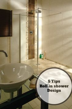 5 Design Tips for a Roll in Shower for an Elderly Parent Roll in showers can look stylish. Ada Bathroom, Handicap Bathroom, Bathroom Wall Decor, Budget Bathroom, Small Bathroom, Bathroom Ideas, Shower Wheelchair, Roll In Showers, Disabled Bathroom