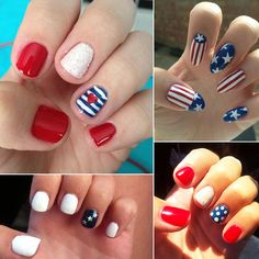 Tap Into Your Patriotism With These Fourth of July Nail Art Designs Fourth of July is a great holiday for a number of reasons: celebrating your patriotism, hanging out by the pool, and the barbecues to indulge in. But it's also a great excuse to get artistic with your nail art, and who doesn't love that? If you need some inspiration beyond the normal red, white, and blue, peruse our gallery to see some gorgeous designs straight from Twitter.