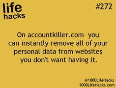 Remove Informationhttp://1000lifehacks.com/post/59049653606