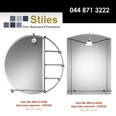 """""""See yourself in a different light"""" with illuminated mirrors from Stiles with a wide range of shapes and styles to choose from. After all, it is a reflection of your taste in elegance. #homeimprovement #homedecor"""