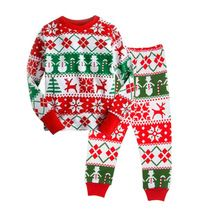 Retail Boys Christmas Pajamas Clothes Sale 2016 Cartoon Kids Pajama Set Children Sleepwear Nightwear Family Toddler Baby Pyjamas(China (Mainland))