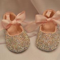 Pink Baby  Swarovski Crystal Shoe