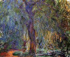 Claude Monet. Weeping Willow (1919).