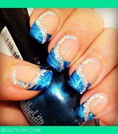 Nail Design Kleancolor and Nail foil plus glitter