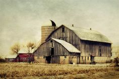 Old Country Barns | Old Country Barn Photograph - old barn rustic landscape brown grey ...