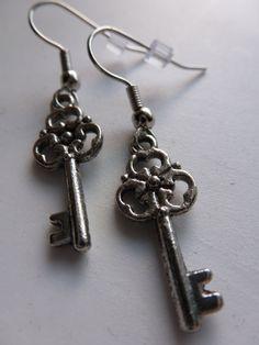 Silver Key Earrings: https://www.etsy.com/listing/110080187/silver-key-earrings