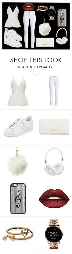 """""""white out"""" by panther-bear ❤ liked on Polyvore featuring Barbour, adidas, Vera Bradley, Charlotte Russe, Frends, Casetify, Lime Crime, Alex and Ani and FOSSIL"""