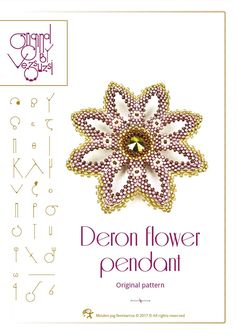 pendant tutorial / pattern Deron pendant – PDF instruction for personal use only by beadsbyvezsuzsi on Etsy