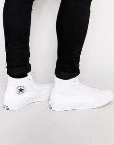 the latest 1f820 676c9 Converse Chuck Taylor All Star II Hi-Top Plimsolls In White 150148C at  asos.com