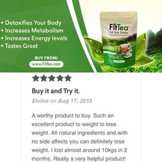 Your turn to buy it & try it! #HealthyLiving #FitTea #HealthyLife #Tea #Fitness #Health #Review http://www.fittea.com/