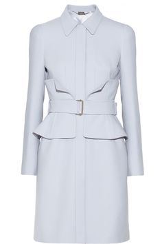 Kate's version is longer, and it doesn't have both 'flaps' at the waist; it also is in a gorgeous blue. But otherwise, it is the Alexander McQueenBelted crepe coat |NET-A-PORTER.COM $3875