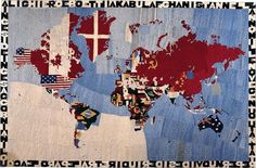 Embroidery as Art: Order and Disorder: Alighiero Boetti by Afghan Women closes this weekend & Randi Malkin Steinberger - Pt. London Blog, Gcse Art, Art For Art Sake, Collage Art, Collages, Textile Art, Cool Art, Tapestry, Embroidery