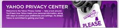 Yahoo Privacy Policy: Do Not Track is no longer enabled on Yahoo. Your experience is now personalized. Click for more info
