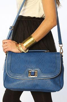 WANT....Nila Anthony The Crossbody Snake Bag in Blue : Karmaloop.com - Global Concrete Culture