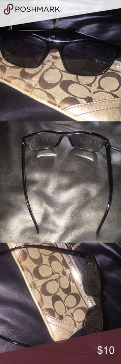 Retro Black Sunglasses Nice Retro Black Sunglasses. Lenses are in excellent condition! Great Deal! Accessories Sunglasses