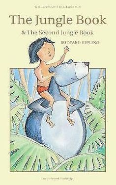 The Jungle Book & The Second Jungle Book by Rudyard Kipling Wordsworth Classics, Law Of The Jungle, Man Cub, English Poets, Story Writer, If Rudyard Kipling, Red Dog, Classic Books, Paperback Books