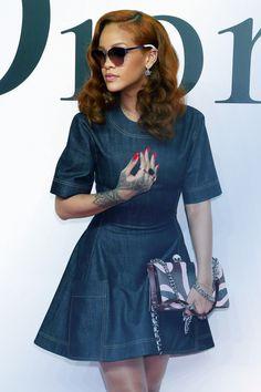 """Rihanna at """"Dior"""" fashion show in Tokyo (Jun. 16)"""