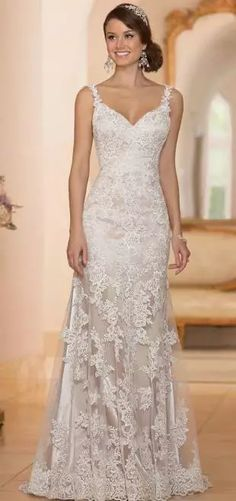 vestido de renda Stella York