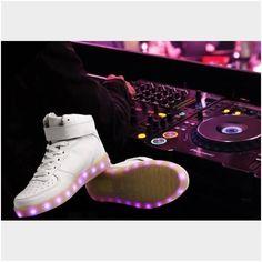 #heartjacking #sneakersaddict #airjordan #aj #23 #edc #edm led light up shoes, black or white.