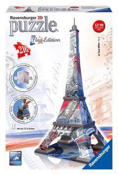 Ravensburger 3D puzzle eiffel tower flag edition - paris (216 τεμ.)