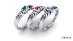 Legend of Zelda Spiritual Stones Ring Collection