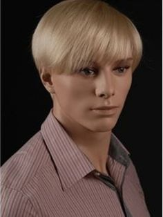 Swell Chic Perfect Mens Wig Mono Top Short Straight 100 Human Hair Short Hairstyles Gunalazisus