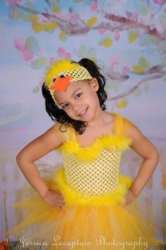 DUCKIE TuTu Dress and Headband Duck Tutu Spring Photo Props Size 2T-5T on Etsy, $48.00
