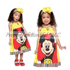 Sweet Mickey Mouse Dress for Disney!