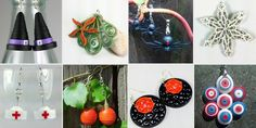 Handmade Halloween paper quilled jewelry will take your Halloween costume to frightening new levels; vampire, super hero, mermaid, witch, nurse, devil, princess and more.