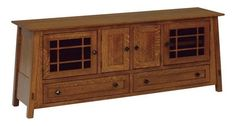 """Amish McCoy 72"""" TV Stand You've found the best in wood furniture for living room. The McCoy brightens the room in solid wood with drawers and compartments for storage. American made in Amish country. #TVstand #mediastorage"""