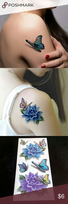 3d tatoo stickers body art temporary tatoo(1sheet) 100% Brand New Theme:3D Tattoos Size: app 190*90MM Use: Temporary tattoos for body cosmetic and art;? Water proof and it could be kept 7-10 days.  How to use? 1. Cut out tattoo of choice.? 2. Remove clear, protective top sheet.? 3. Press tattoo firmly onto clean, dry skin with design face down.? 4. Wet tattoo thoroughly using wet sponge or cloth.? 5. Peel off paper backing  6. Tattoos can be removed by washing with soap and water.  To remove…