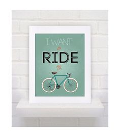 Digital Download I want to ride my bike Bicycle by dotsonthewall, $7.00