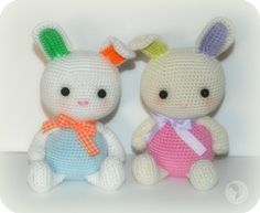 """Bunny Babies - Free Amigurumi Pattern - PDF Version - Click """" Free Patterns Page"""" or """"here"""" in blue letters here: http://amigurumibb.com/2015/02/20/bunny-babies-and-other-easter-additions/"""