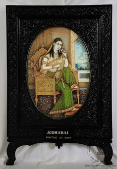 Rani Jodhbai Mughal Paintings, Indian Paintings, Oil Paintings, First Battle Of Panipat, King Of India, Delhi Sultanate, Indian Prince, Indus Valley Civilization, Miniature Portraits