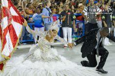 Desfile  Tecnico Carnaval 2014, Marcella Alves e Sidclei.