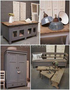 stoere kleuren en toch een brocante stijl! Deze meubels en accessoires ...