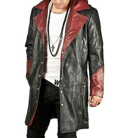 Ericdress Mid-Length Hooded Color Block European Mens Leather Jacket We Offer Top Good Quality Cheap Clothes For Women And Men Clothing Wholesaler, Get Affordable Clothing At Worldwide. Mens Leather Coats, Men's Leather Jacket, Leather Jackets, Real Leather, Blazers For Men Casual, Leather Trench Coat, Devil May Cry, Latest Fashion Clothes, Long Coats
